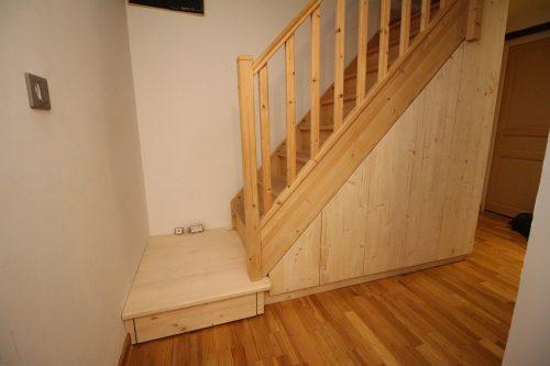 Aménagements sous escalier