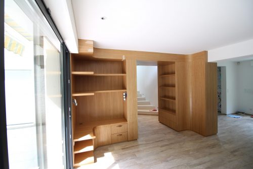 Bibliothèque, lambris
