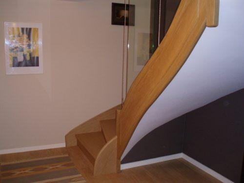 Escalier à la française revisité